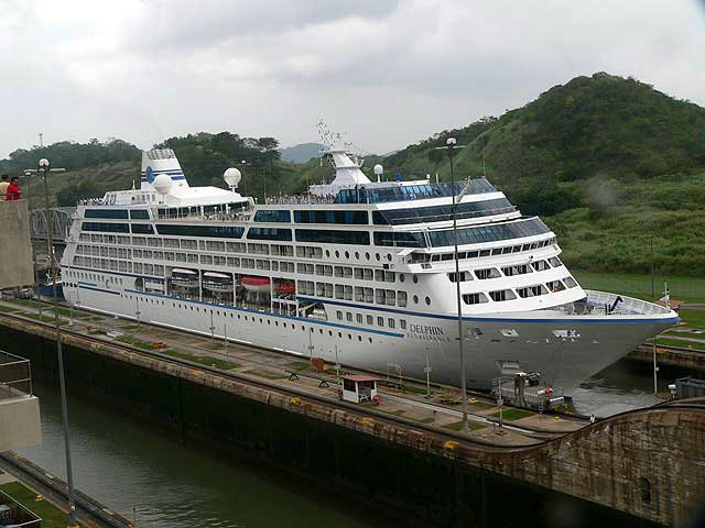 Cruise Ship Delphin Renaissance In The Miraflores Lock Panama Canal - Panama cruise