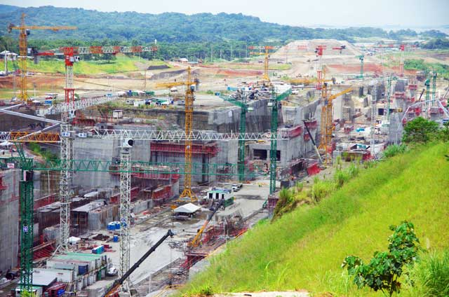 Images Of The Work In Progress Of The Panama Canal