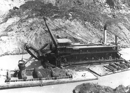 Panama Canal Construction Historic Photo - Culebra Cut 1915