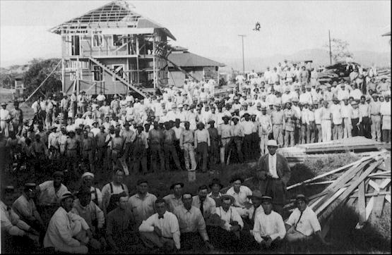 Panama Canal Construction Historic Photo - Workers at the Panama Canal